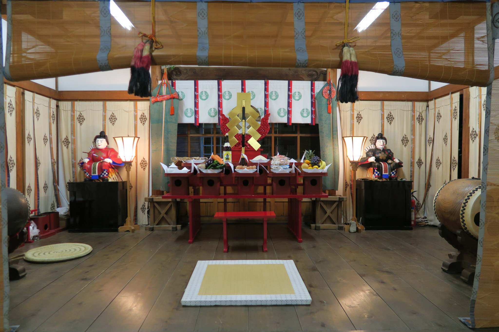平成27年荒川神社秋祭り準備の様子