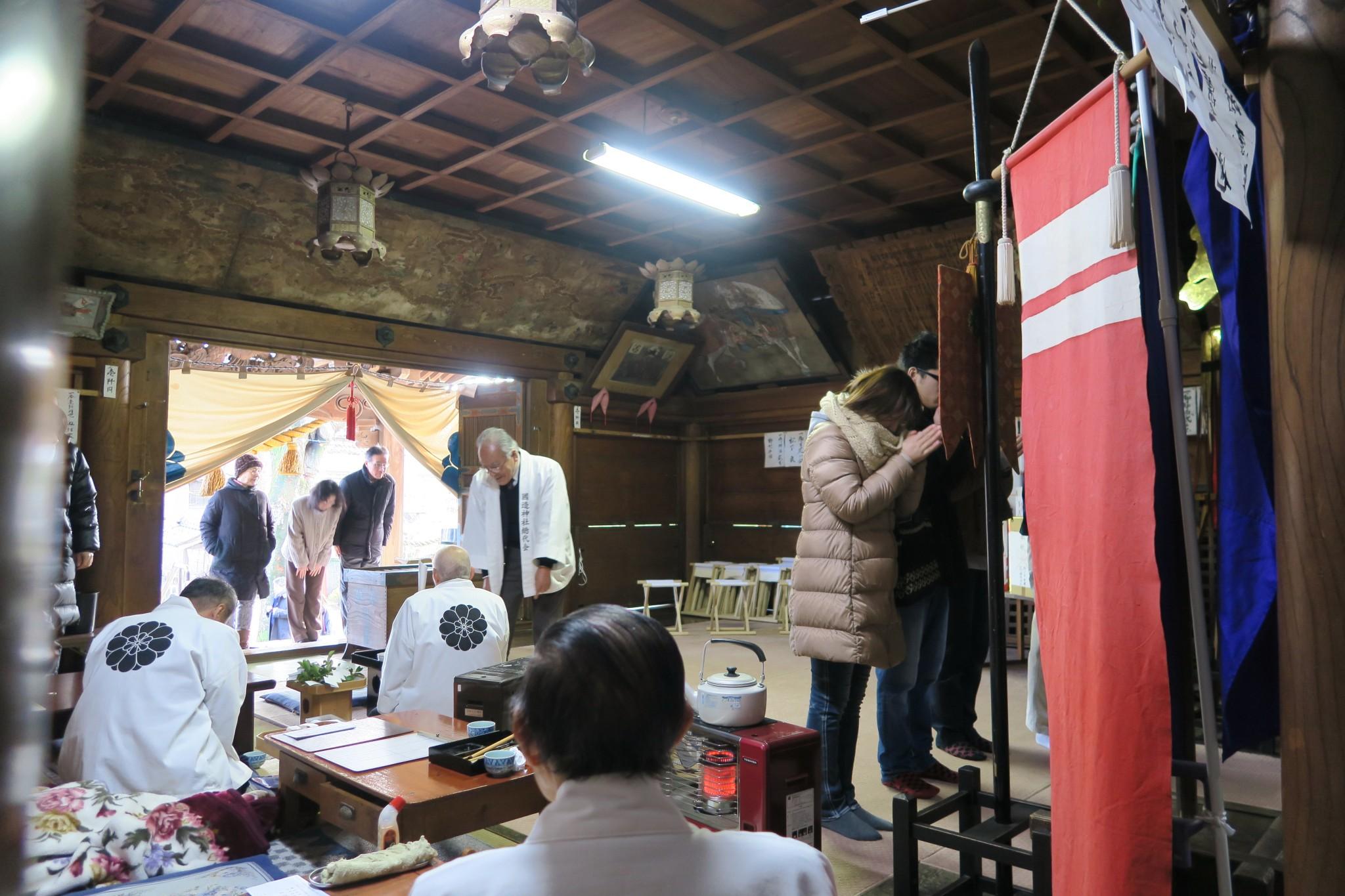 平成28年 国造神社初詣の様子
