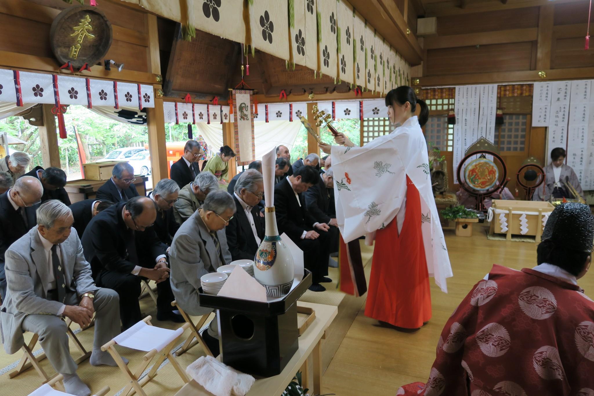 平成28年 春祭り 例祭 巫女鈴清祓