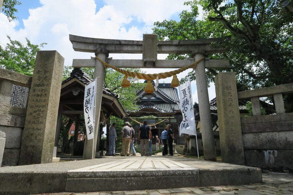 押野 高皇産霊神社 茅の輪が奉納されました (写真追加)