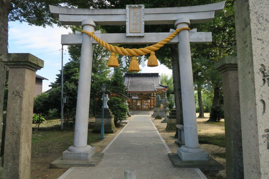 荒川神社に新しい鳥居が奉納される予定