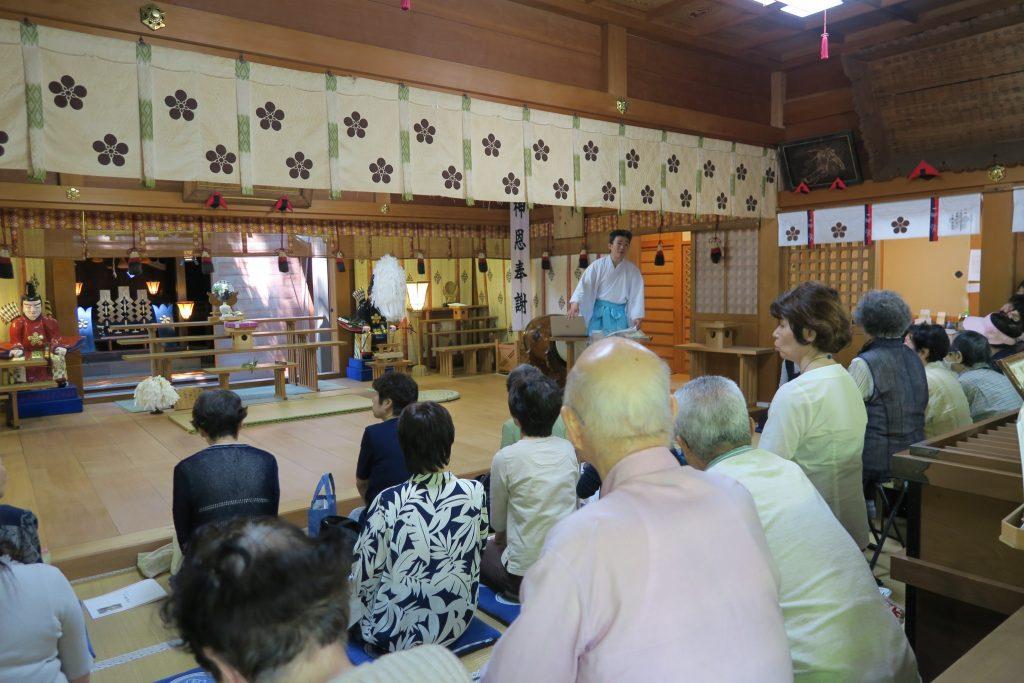 増泉 春日神社 社頭講話会をご奉仕しました。
