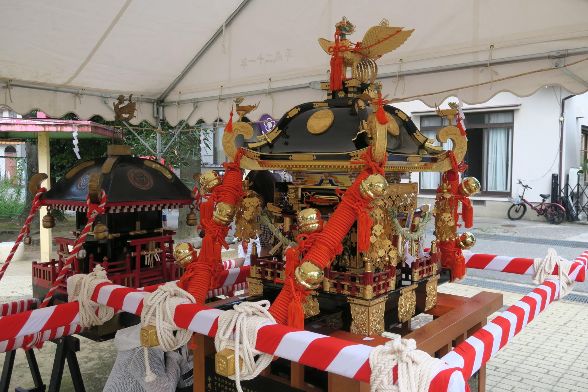 平成29年9月 米日吉神社 米泉三丁目町会子供神輿