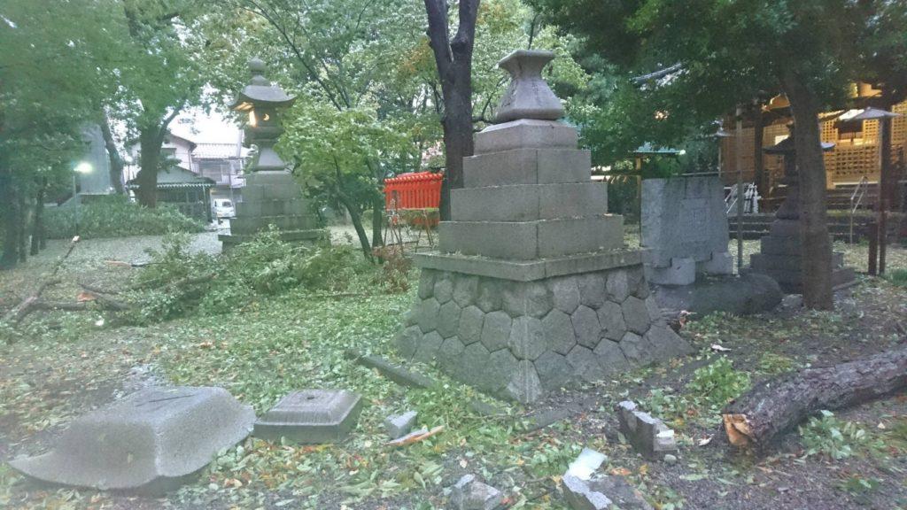 台風被害(平成29年10月23日)
