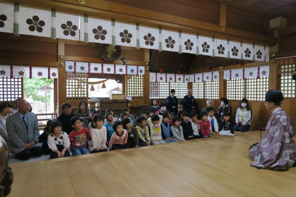 春日神社 新小学一年生交通安全祈願祭